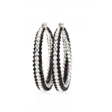 Jimmy Crystal EARRINGS EJ1830 SILVER
