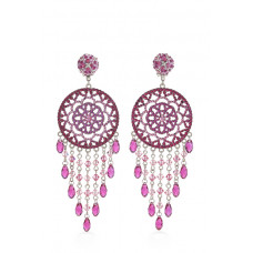 Jimmy Crystal Swarovski EARRINGS EJ1860F SILVER