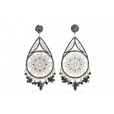 Jimmy Crystal Swarovski EARRINGS EJ1864F SILVER
