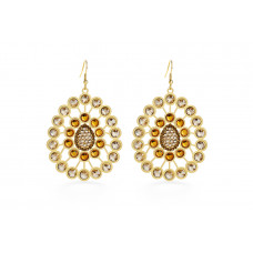 Jimmy Crystal Swarovski EARRINGS EJ1868 GOLD