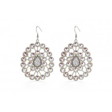 Jimmy Crystal Swarovski EARRINGS EJ1868 SILVER