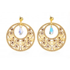 Jimmy Crystal Swarovski EARRINGS EJ1869 GOLD