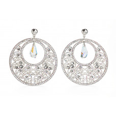 Jimmy Crystal Swarovski EARRINGS EJ1869 SILVER