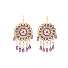 Jimmy Crystal Swarovski EARRINGS EJ1872 GOLD