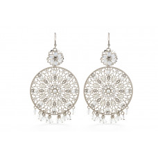 Jimmy Crystal EARRINGS EJ1873 SILVER