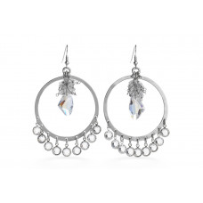 Jimmy Crystal EARRINGS EJ1886 SILVER