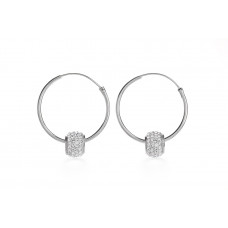 Jimmy Crystal Swarovski 925 Real Silver Earrings EJ1903
