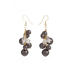 Jimmy Crystal EARRINGS EJ1911 DEEP BROWN