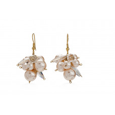 Jimmy Crystal EARRINGS EJ1911 PEACH