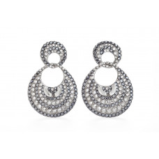 Jimmy Crystal EARRINGS EJ1925 SILVER