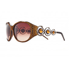 Jimmy Crystal Swarovski Sunglasses GL1014 Brown