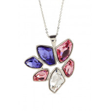 Jimmy Crystal Necklace NJ039 TZ-ROSE