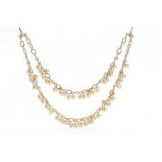 Jimmy Crystal Pearl Necklace NJ078 CREAM