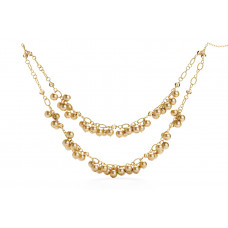 Jimmy Crystal Pearl Necklace NJ078 GOLD