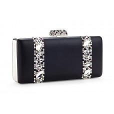 Jimmy Crystal Swarovski Handbag PJ283 BLACK