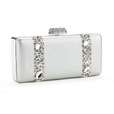 Jimmy Crystal Swarovski Handbag PJ283 SILVER