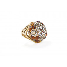 Jimmy Crystal RING241 GOLD
