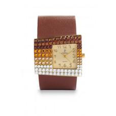 Jimmy Crystal Swarovski Watch WJ535A BROWN