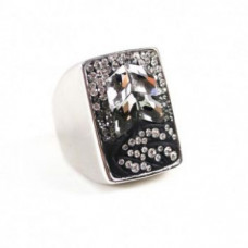 Jimmy Crystal Ring228 Black & White RING